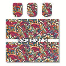 NICOLE DIARY Nail Art Water Transfer Decal Sticker Beautiful Patterns ND-24
