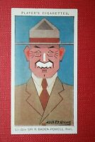 BOY SCOUTS  Founder  Baden-Powell   Original 1920's Vintage Colour Card