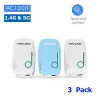 Wavlink AC1200 Smart Whole Home Mesh Wifi System 2.4G/5G Dual-Band Touch 3 Pack