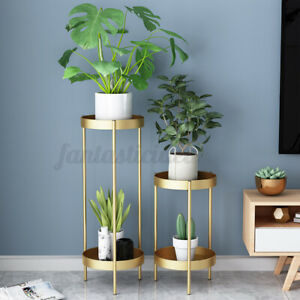 Metall Pflanzenständer Blumenständer Pflanzenhalter Blumenhocker Dekorativ Rack