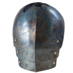 Medieval pair of complete pauldron in stainless steel Armor Larp