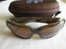 Maui Jim brown frame polarized sunglasses. MJ 236-22 Blue Water. With case.