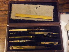 Antique Boxed Drawing Instruments Geometry / Technical Set