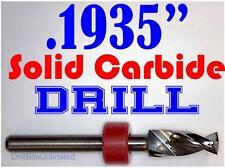 ".1935"" 4.90mm  -Solid Carbide Drill Bit - 1/8"" Shank -Sharp! CNC Hobby Model -lu"