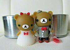 Couple Groom Bride Friend Bear flash drive 4 GB usb/keychain rubber silver case