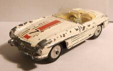 1960s Corgi Toys 303S Mercedes Benz 300 SL roadster SCARCE WHITE VERSION