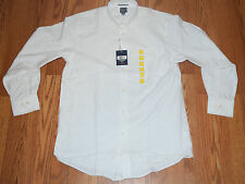 NWT Mens DOCKERS Battery Street Classic Fit L/S White Shirt Size M 15-15.5 34/35