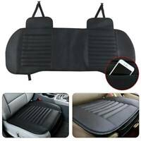 3pcs Universal PU Leather Car Rear Seat Cover Bamboo Breathable Cushion Mat UK