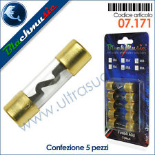 Fusibili AGU in vetro 30 Ampere confezione 5 pezzi