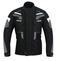 Textiljacke Herren Sommer Jacke Motorrad Schwarz Grau Biker Motorrad Jacke Neu