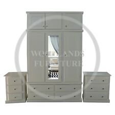 HAND MADE DEWSBURY TRIPLE 3 PIECE BEDROOM SET IN IVORY, MANY COLOURS (ASSEMBLED
