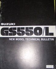 SUZUKI GS500/ L NEW MODEL TECHNICAL BULLETIN MANUAL  1980  (CONTENTS LISTED)