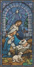 Christmas Cross Stitch Chart - Nativity Stained Glass 2 -- no. 331 TSG37