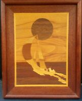 "Marquetry Art By Doug Bates International Gifts 1985 Made In USA 15 3/8"" X 12"""