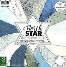 Nord Étoile Dovecraft Noël 8 x 8 Échantillon Paquet Papier 16 Pages 200 Gsm Neuf