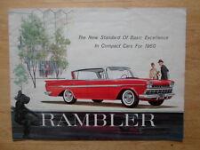 RAMBLER orig 1960 USA Mkt large format sales brochure - AMC American Ambassador