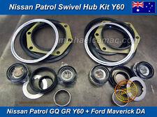 Nissan Patrol GQ GR Y60 Swivel Hub Kit with Wheel Bearings King Pin Knuckle Seal