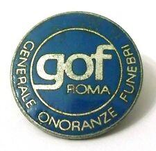 Pin Spilla GOF Roma - Generale Onoranze Funebri