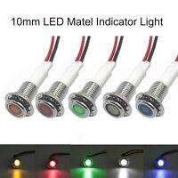 10/12mm 12V 0.15W Car Boat LED Indicator Light Dash Panel Dashboard Warning Lamp