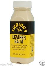 Fiebing's Leather Balm Neutral Cleaner Softener Protector Top Finish 4oz