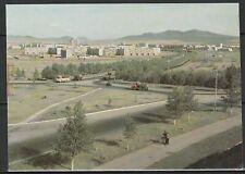 Монголия Открытка Строительство Дархан 1980-е гг.