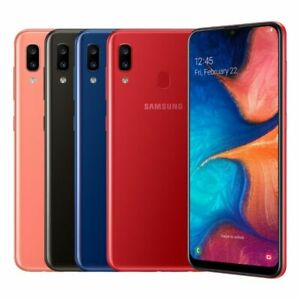 NEW SAMSUNG Galaxy A20 32GB  DUAL SIM Android Smartphone UNLOCKED SEALED COLOURS