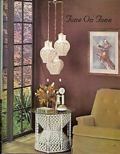 Macrame Table & 3 Pendant Lamp Patterns - Fiber Form & Fantasy Craft Book