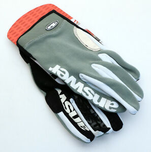 Answer Fall Line XC Gloves Grey MTB NEW