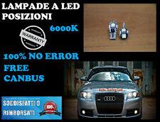 VW GOLF 5 LED LUCI POSIZIONI COPPIA  NO ERROR T10 CANBUS