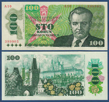 TSCHECHOSLOWAKEI / CZECHOSLOVAKIA 100 Korun 1989 UNC P.97