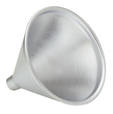 12 Pack Metal Funnel 8 ounce Cone Shape Aluminum Finish Metal New
