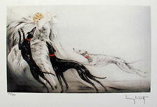 """LOUIS ICART """"COURSING II"""" Signed Limited Edition Small Giclee Art"""