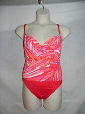 La Blanca Swimsuit 1PC Size 6 Red Multi Color 1LB2EU12 Underwire NWT $129