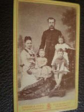 CDV old photograph family toy yacht Stabler & Fries Sunderland c1870s