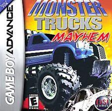 NEW Factory Sealed  MONSTER TRUCKS MAYHEM game for Gameboy Advance