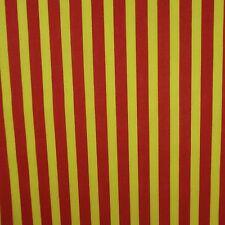 Red & Yellow 13mm Stripe Polycotton (Per Metre)