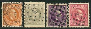 NETHERLANDS INDIES OLD STAMPS 1870 - 1888 - King Wilhelm III - USED