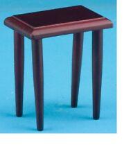 Dollhouse Miniatures 1:12 Scale Side Table, Mahogany #CLA10303