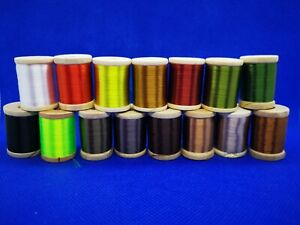 75D 8/0 Waxed Silk Fly Tying Thread by Rede River. 15 Colours - 250 Yard Spool