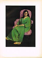 1940's Old Vintage Henri Matisse Femme Fauteuil Woman Offset Litho Art Print