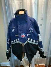 Vtg 1990's Dallas Cowboys PRO LINE Logo Athletic NFL Hooded Jacket Size M