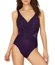 65eb9405832ce Miraclesuit Women's Illusionists Crossover Sz. 16 One-Piece Swimsuit 149206