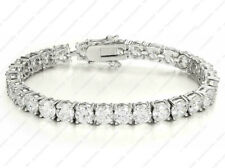 925 Sterling silver Round moissanite 6 mm Solitaire Tennis Bracelet for Women