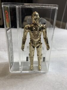 Vintage Star Wars ANH 1977 C-3PO Solid Limbs AFA/UKG Graded Rare Gold 90%