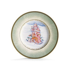 Fitz & Floyd Winter Holiday Santa Salad Plate New!