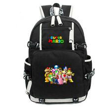 Super Mario Peach Yoshi Backpack Boys Girls Book Schoolbag Travel Bag Mochila