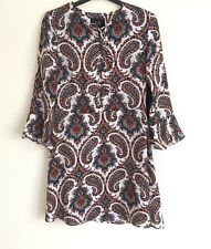 ⭐️NEW⭐️GOLDIE Boho Folksy Summer Dress with Paisley Print UK 8 - 10