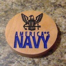 America's Navy Cherry wood Refrigerator Magnet American Made/Homemade