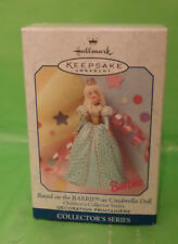 Hallmark Keepsake Ornament Based on Barbie as Cinderella Doll (1999), New in Box