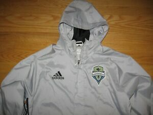 SEATTLE SOUNDERS FC XBOX SOCCER OFFICIAL MLS HOODED ZIP DOWN JACKET BY ADIDAS